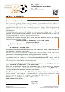 communiqué Pdt Pass Sanitaire